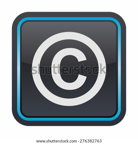 Copyright icon - stock vector