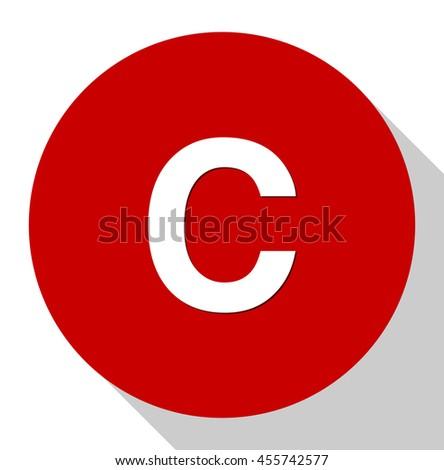 copyright icon - stock vector