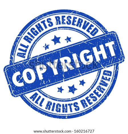 Copyright ink stamp - stock vector