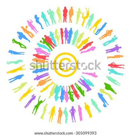 copyright Many People  - stock vector