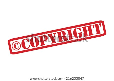 COPYRIGHT Rubber Stamp vector over a white background. - stock vector