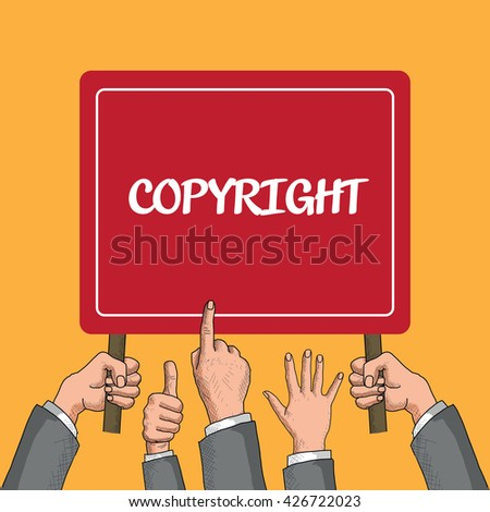 Copyright Trademark Identity Owner Legal Concept - stock vector