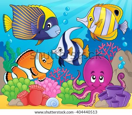Coral fauna theme image 7 - eps10 vector illustration. - stock vector