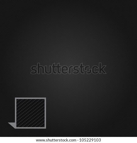 Corduroy black background - stock vector