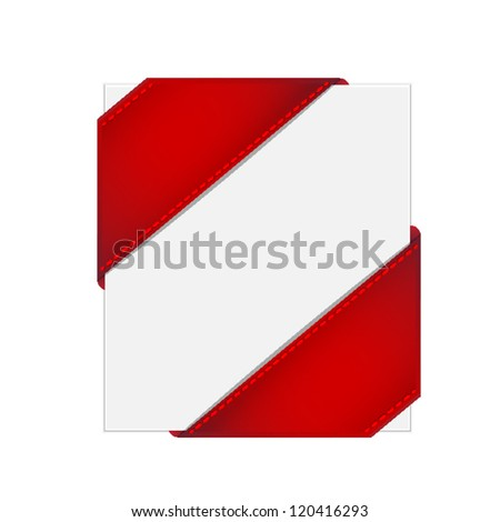 Corner ribbon - stock vector