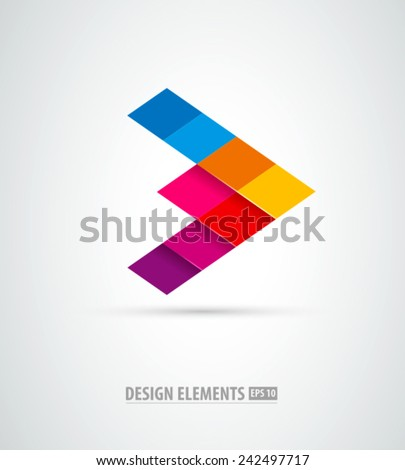 Corporate abstract vector logo. Success sign. Business success - stock vector