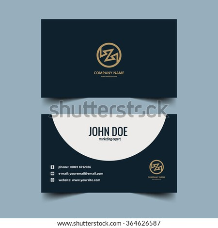 Corporate business card background vector - stock vector