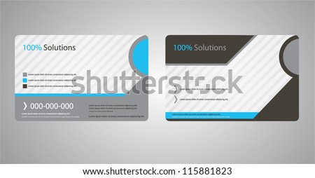 corporate business cards brochure design - stock vector