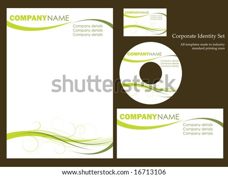 Corporate business identity template - stock vector