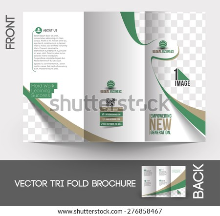 Corporate Business Store Tri-Fold  Mock up & Brochure Design - stock vector