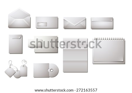 Corporate design vector templates with empty copy space - stock vector