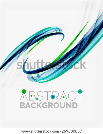 Corporate fresh business wave design, abstract background - stock vector