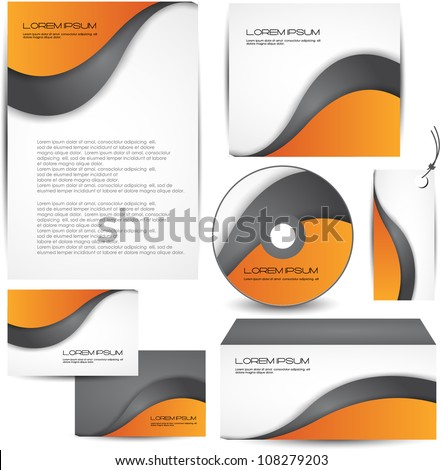 corporate identity - stock vector
