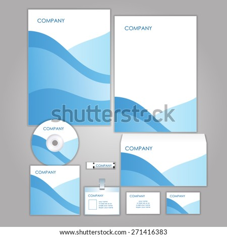 Corporate identity business set design. Abstract background - stock vector