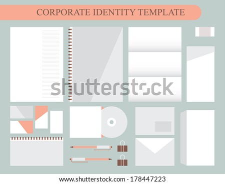 Corporate identity design template. Business kit. Vector illustration - stock vector