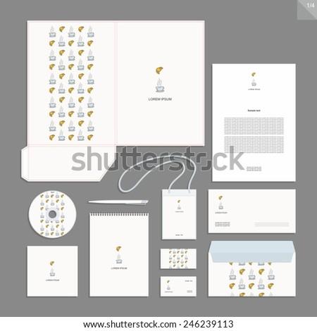 Corporate identity design vector - Stationery set design. - stock vector