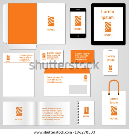 Corporate identity template. Stationery template design. Documentation for business. Vector illustration. - stock vector