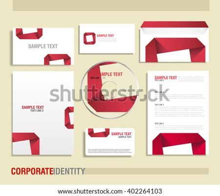 Corporate identity vector template - stock vector