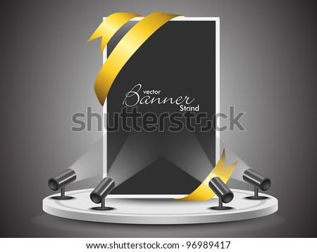 Corporate presentation for product promotion with  stand banner or template design for your business. eps 10, editable vector illustration. - stock vector