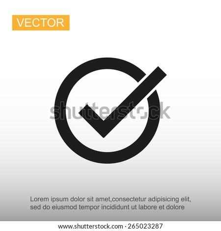 Correct symbol - stock vector