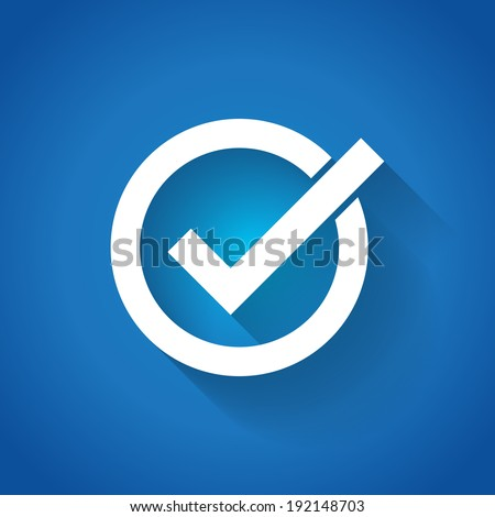 Correct symbol illustration - stock vector