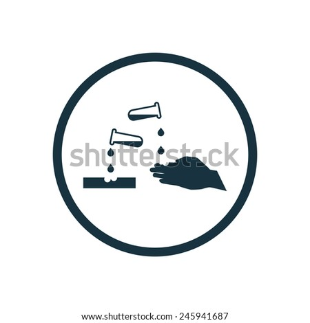 corrosive icon on white background  - stock vector