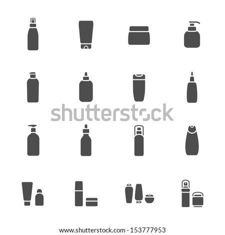 Cosmetic bottle icons - stock vector