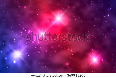 Cosmic background galaxies, nebula and shining stars. Space vector illustration for your design, space wallpapers - stock vector