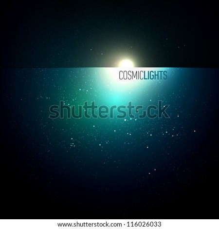 Cosmic Lights | EPS10 Vector Background Series | Layers Organized and Named - stock vector