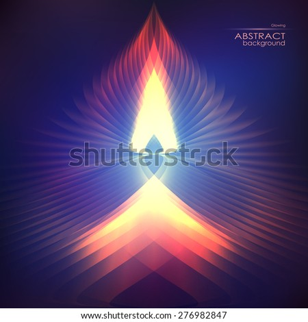 Cosmic shining vector fire abstract background - stock vector