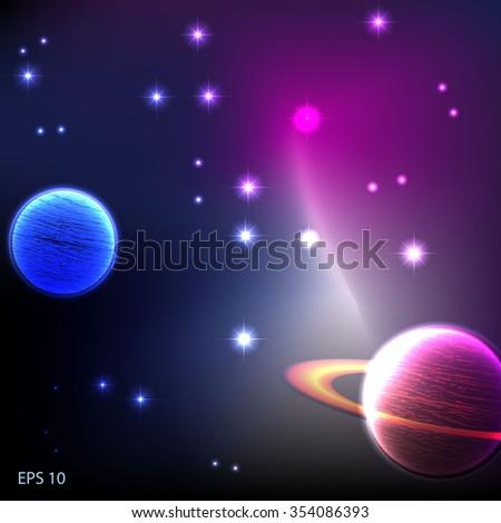 cosmos - stock vector
