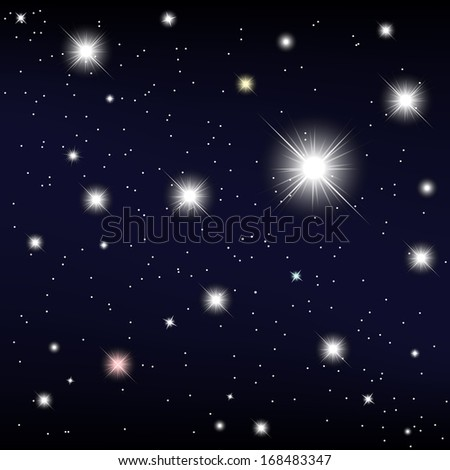 cosmos. star in the night sky. Vector illustration - stock vector