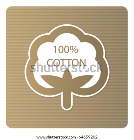 Cotton labels - stock vector