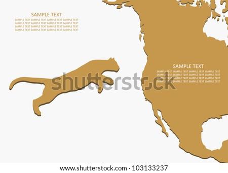 Cougar habitat - vector background - stock vector
