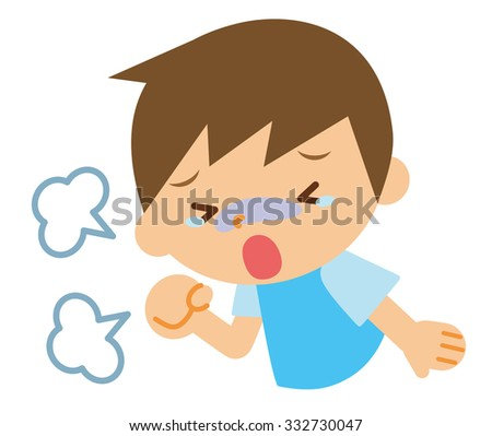 Cough child - stock vector