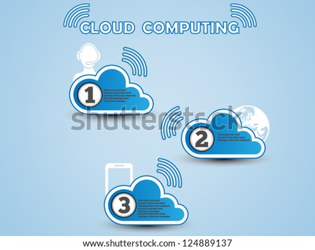 COULD COMPUTING CLASSIFICATION BLUE - stock vector