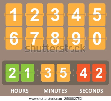 Countdown timer - stock vector