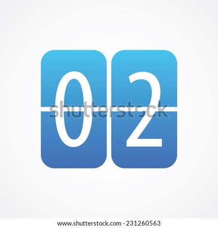 Countdown Timer, Mechanical Scoreboard icon, vector illustration. Simple Flat Metro design style. ESP10 - stock vector