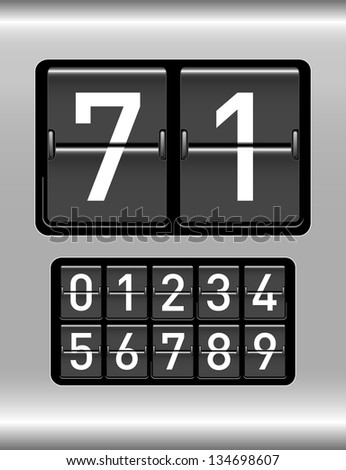 countdown timer with different numbers - stock vector