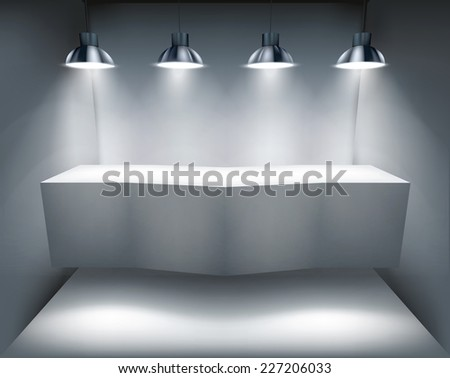 Counter in shop. Vector illustration. - stock vector