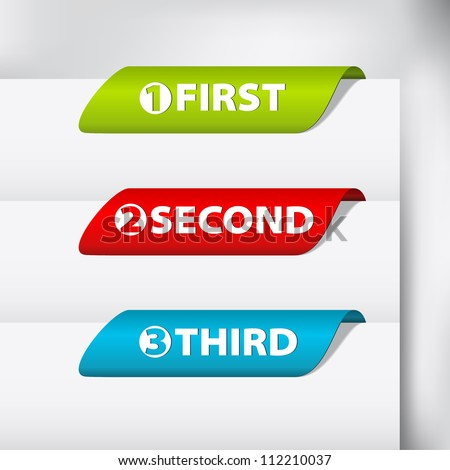 Counter Labels / Stickers on the top of the (web) page - stock vector