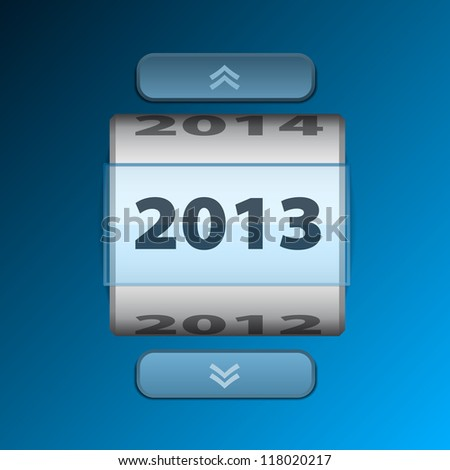 Counter 2013 year card with pointers - stock vector