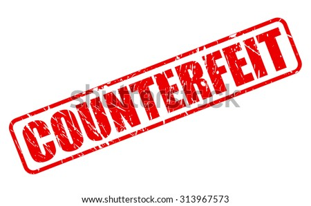 COUNTERFEIT red stamp text on white - stock vector