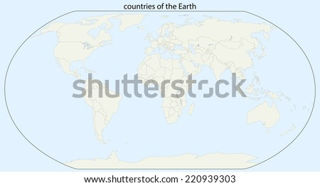 countries of the Earth - stock vector