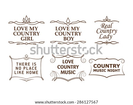 Country quotes - stock vector