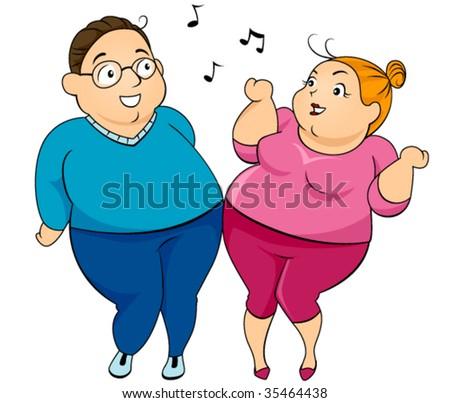 Fat Couple Dancing 16
