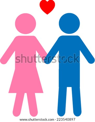 Couple icon - stock vector