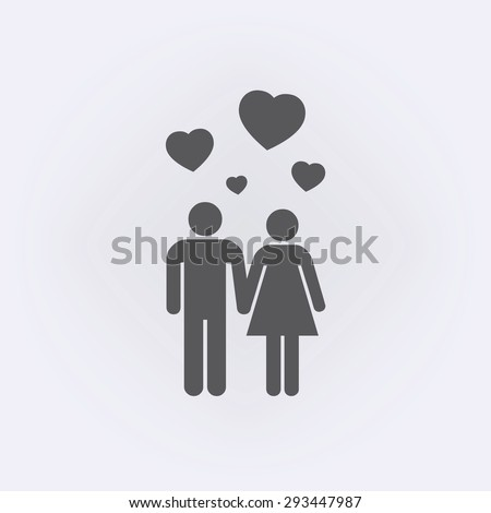Couple icon - stock vector
