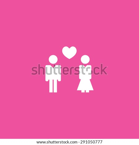 Couple in Love Background - stock vector
