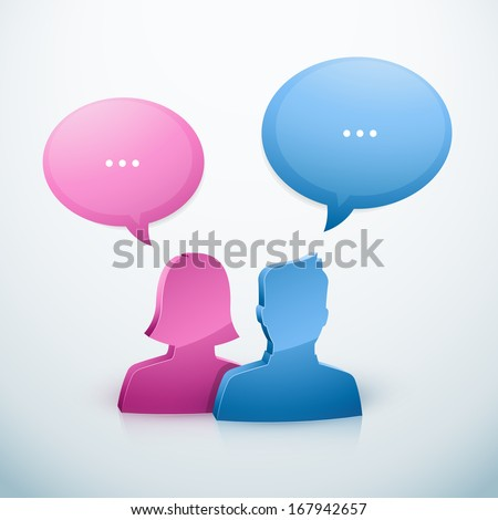 Couple speech bubble icon - stock vector